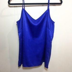Royal blue, satin, tank top
